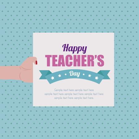 teacher teaching: Abstract Teachers day background Illustration