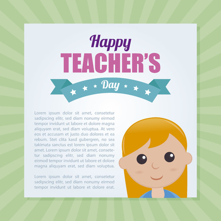 special education: Abstract Teachers day background Illustration