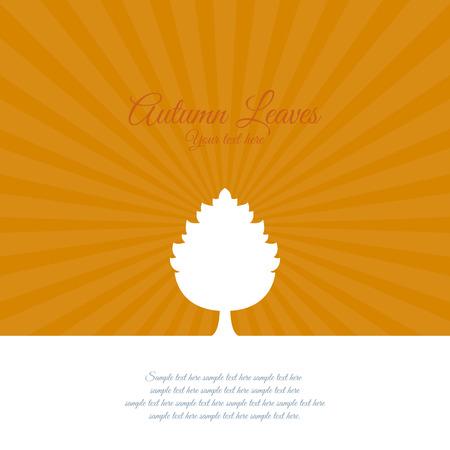 hintergrund herbst: Abstrakte Herbst-Hintergrund Illustration