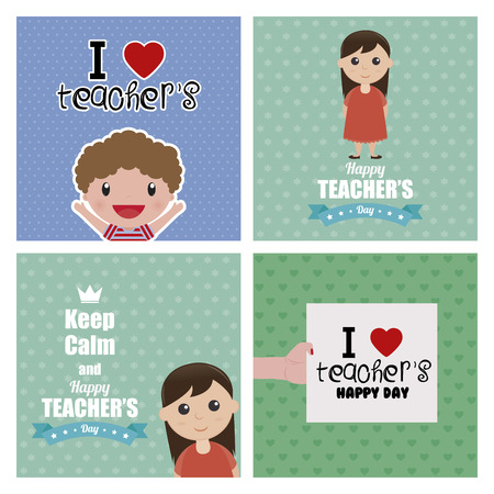 Abstract Teacher\'s day backgrounds Stock Illustratie