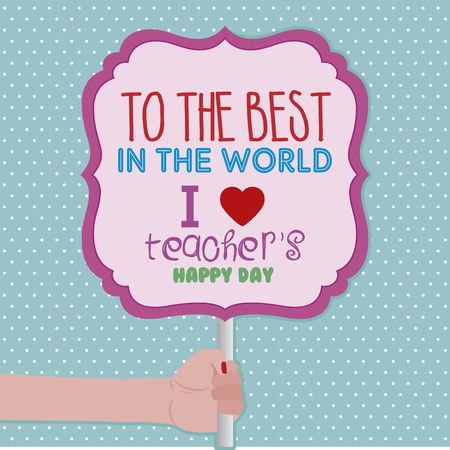 Abstract Teacher\'s day background