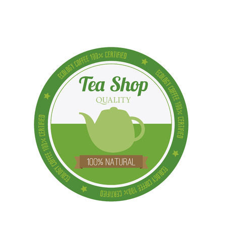 patisserie: Abstract premium tea shop label on a white background