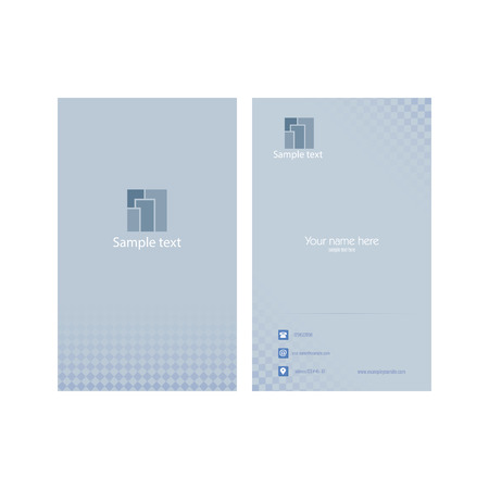 presentation card: Abstract presentation card on a white background
