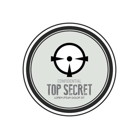 secret word: Abstract top secret label on a white background Illustration