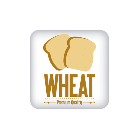 sheaf: Abstract wheat label on a white background