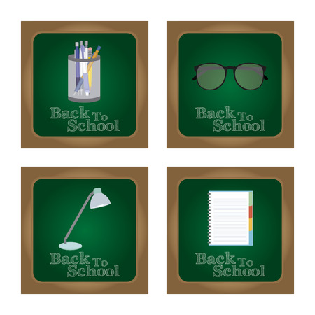 semester: Abstract Back to school background with some special objects