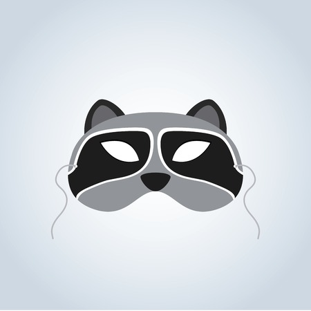 incognito: Abstract Raccoon Mask on a special background Illustration
