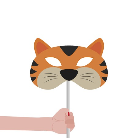 incognito: Abstract Tiger Mask on a special background Illustration