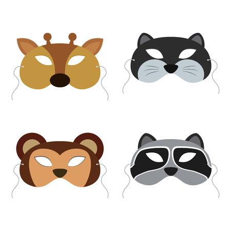 incognito: Abstract Animals Mask on a special background