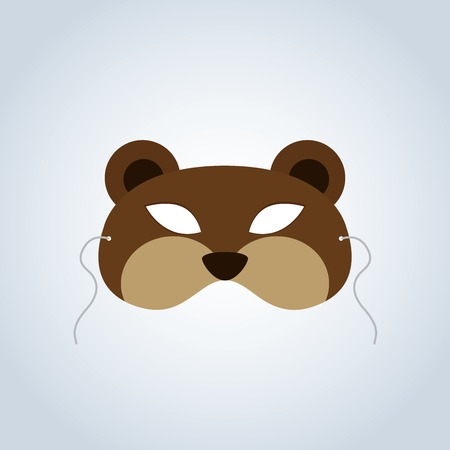incognito: Abstract Bear Mask on a special background