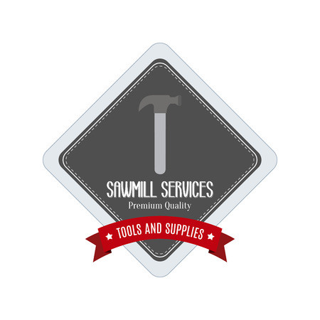 steel mill: abstract sawmill label on a white background Illustration