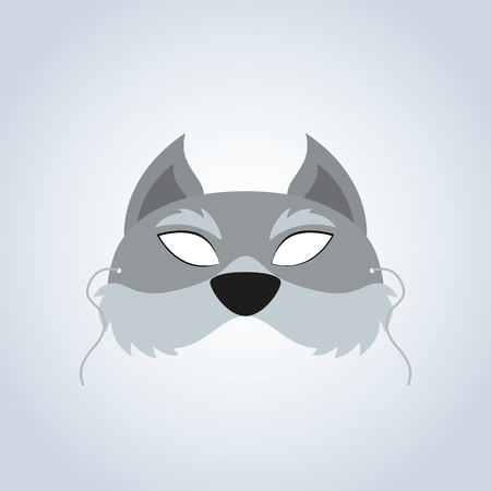 incognito: Abstract Wolf Mask on a special background