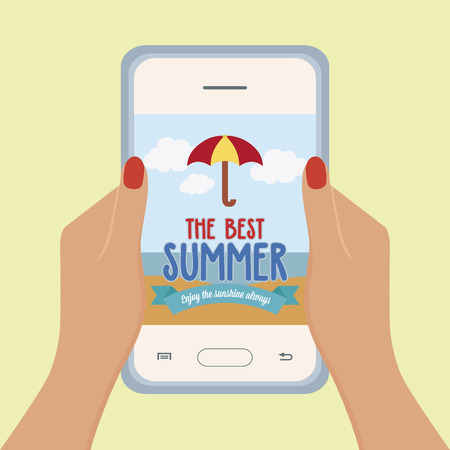 beach ad: Abstract summer vacation promotion on a special background Illustration