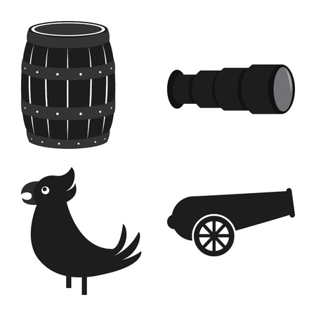 objects: Abstract Pirate objects on a white background