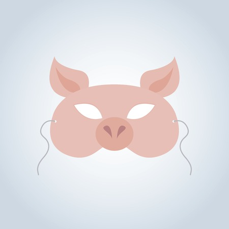 incognito: Abstract Pig Mask on a special background