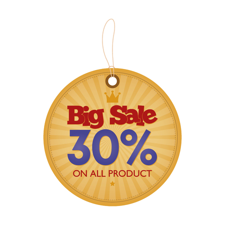 big sales: Isolated banner with text for big sales and promotions