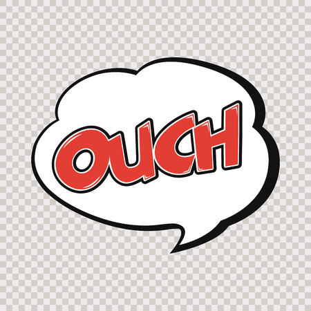 onomatopoeia: Isolated comic expression on a colored and textured background Illustration