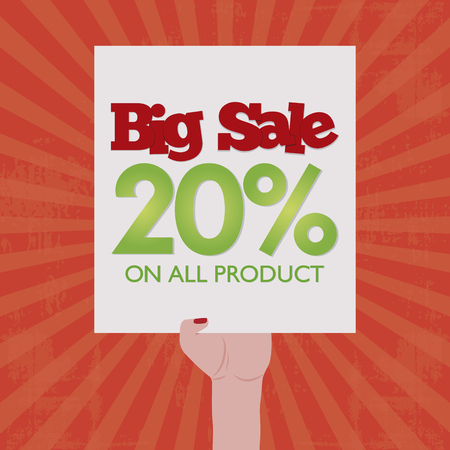 big sales: Colored background with text for big sales and promotions Illustration