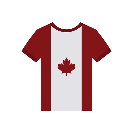 canadian flag: Isolated shirt with a canadian flag on a white background Illustration