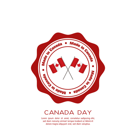 commemoration day: Isolated banner with text and a pair of canadian flags on a white background