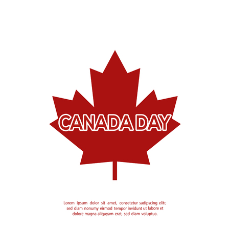 commemoration: Isolated maple leaf on a white background with text