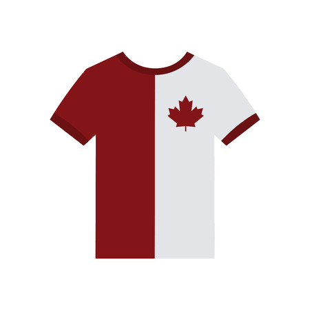 commemoration: Isolated shirt with a canadian flag on a white background Illustration