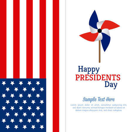 president's day: Colored background with text for presidents day