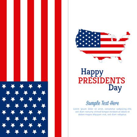 presidents: Colored background with text for presidents day