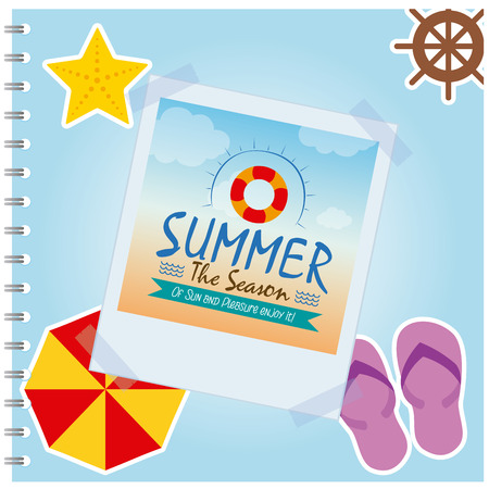 hot tour: Isolated summer photo of a lifesaver icon on a colored background