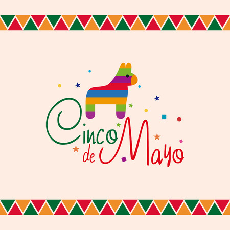 Colored background with a donkey toy and text