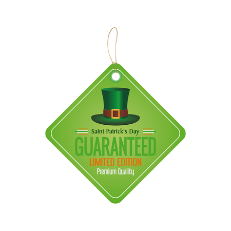 irish banner: Isolated banner with text and a traditional irish hat Illustration