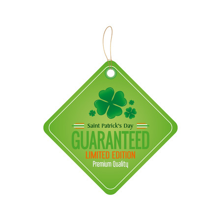 clovers: Isolated banner with text and clovers on a white background Illustration