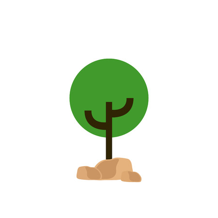 tree isolated: Isolated green abstract tree on a white background Illustration