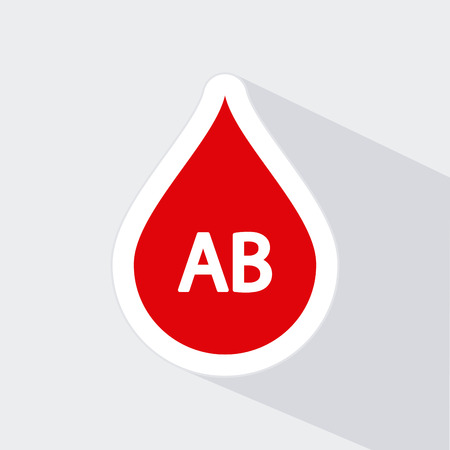 transfuse: Isolated drop of blood icon with a type of blood on a white background