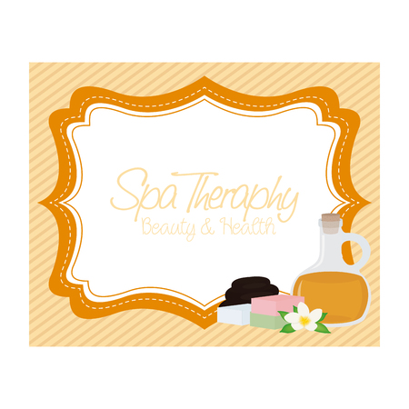 spa objects: Textured background with text and some spa objects