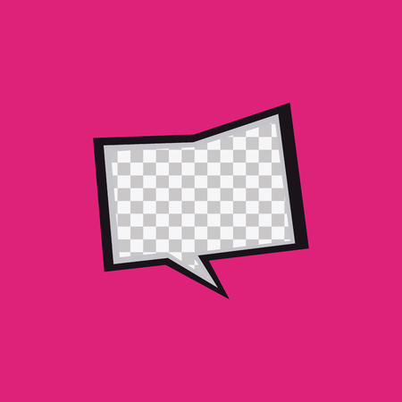 onomatopoeia: Isolated textured comic expression on a pink background
