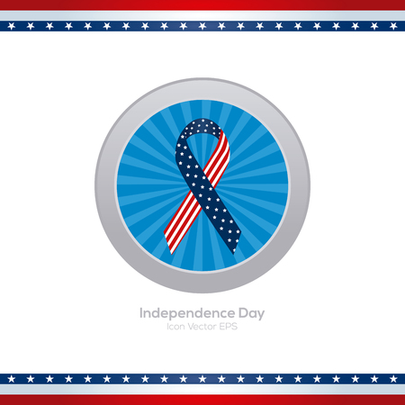 banner of peace: Isolated blue banner with a peace symbol for independence day celebrations Illustration