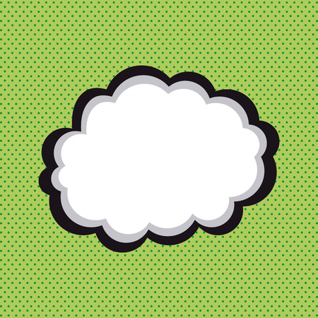 onomatopoeia: Isolated comic expression on a green textured background Illustration