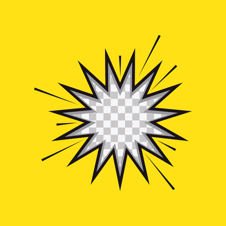 onomatopoeia: Isolated textured comic expression on a yellow background