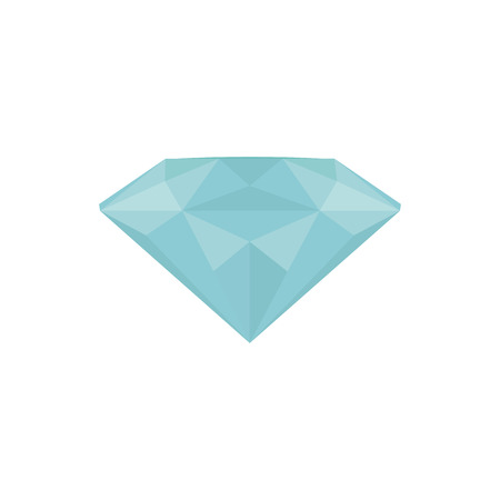 blue diamond: Isolated blue diamond on a white background