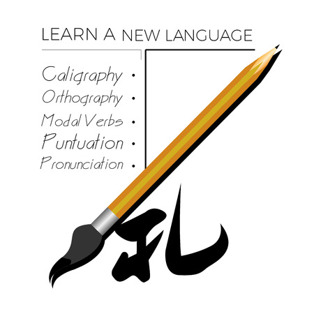 Learn a new language graphic design, Vector illustration