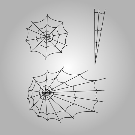 spider webs: Set of halloween spider webs, Vector illustration