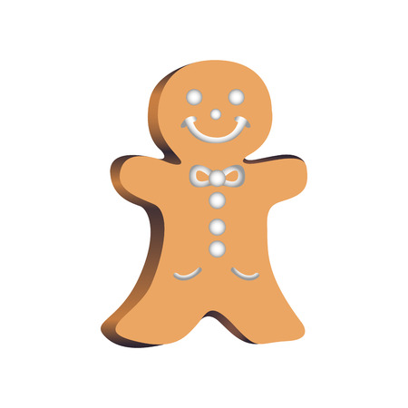 christmas cookie: Isolated christmas cookie on a white background, Vector illustration