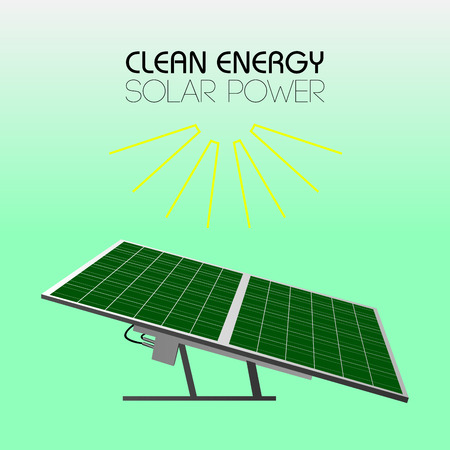 clean energy: Isolated sunlight panel, Clean energy vector illustration