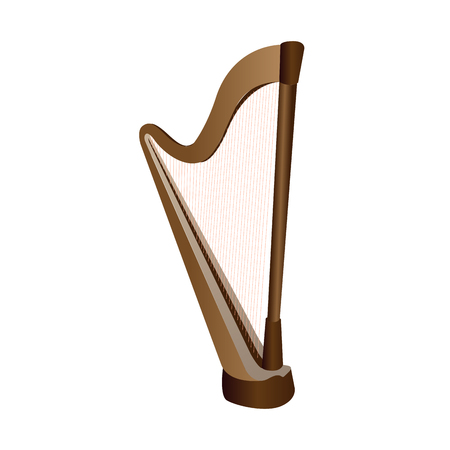 Isolated harp on a white background, Vector illustration
