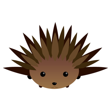porcupine: Isolated cute porcupine on a white background, Vector illustration Illustration