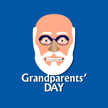 old person: Happy grandparents day graphic design, Vector illustration