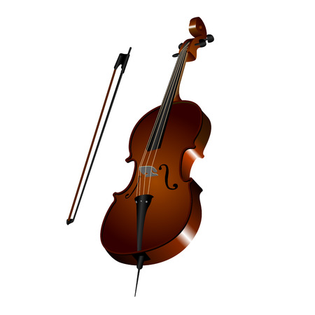 cellos: Isolated cello on a white background, Vector illustration Illustration
