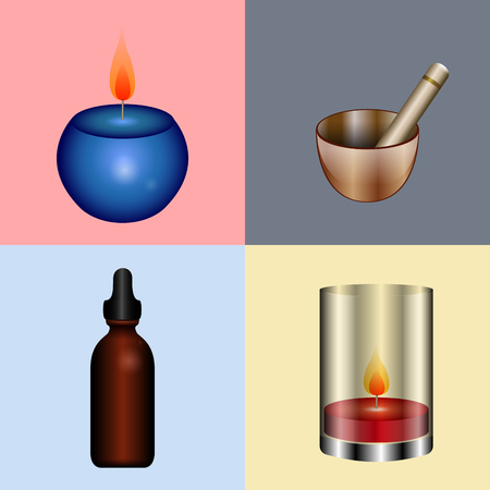 Set of different spa icons, Vector illustration