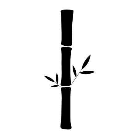 incense: Isolated silhouette of a bamboo, Spa icon Vector illustration